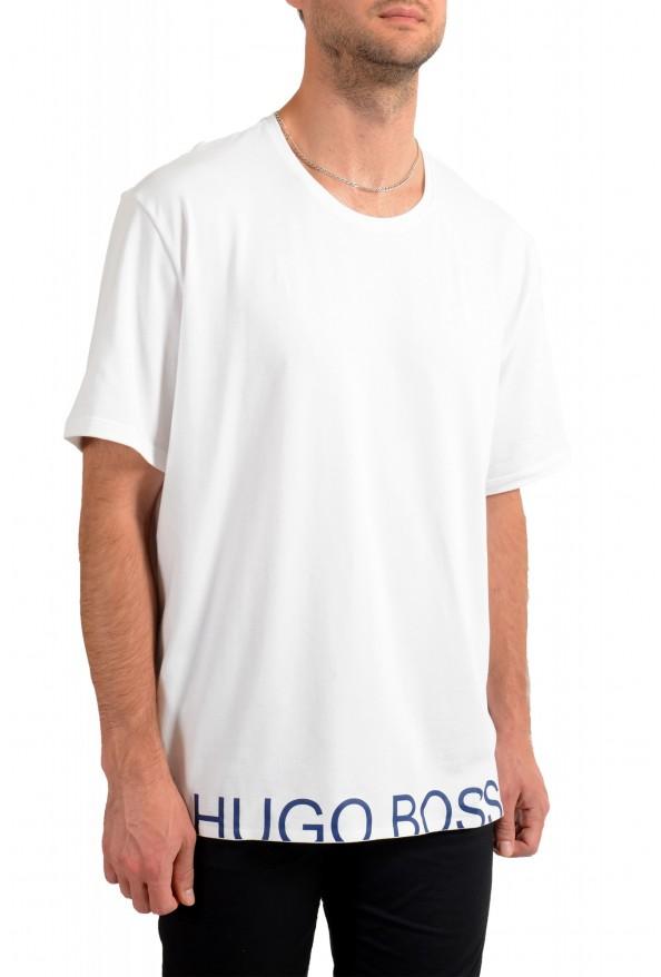"Hugo Boss Men's ""Identity T-shirt RN"" White Crewneck T-Shirt : Picture 2"