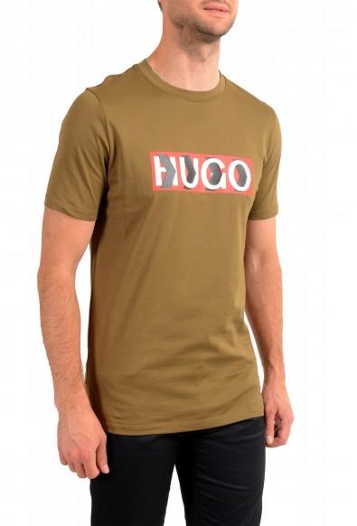 "Hugo Boss Men's ""Dicagolino_LP1"" Olive Logo Print Crewneck T-Shirt: Picture 2"