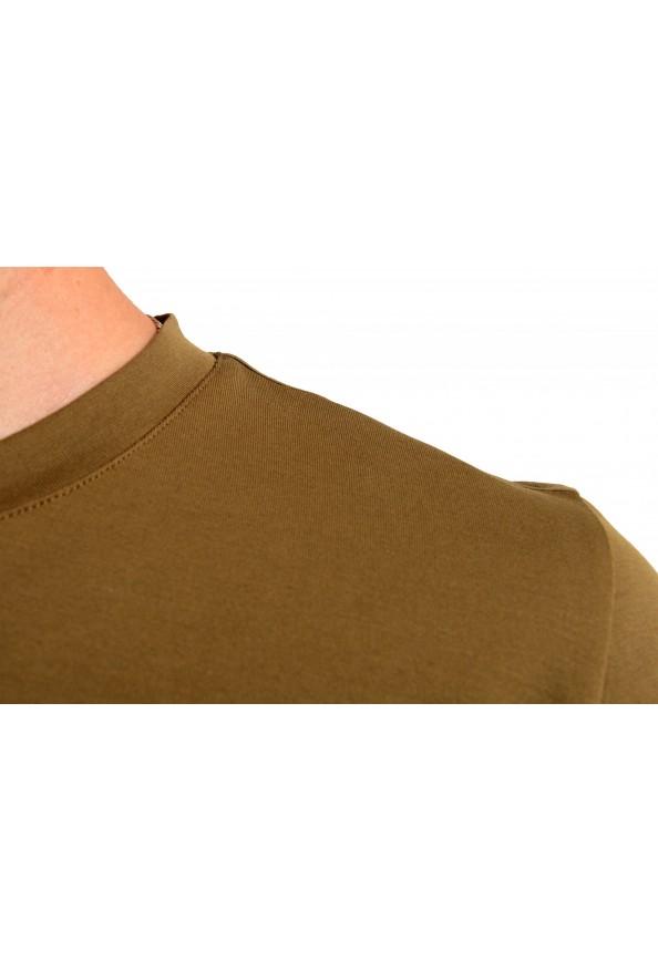 "Hugo Boss Men's ""Dicagolino_LP1"" Olive Logo Print Crewneck T-Shirt: Picture 4"