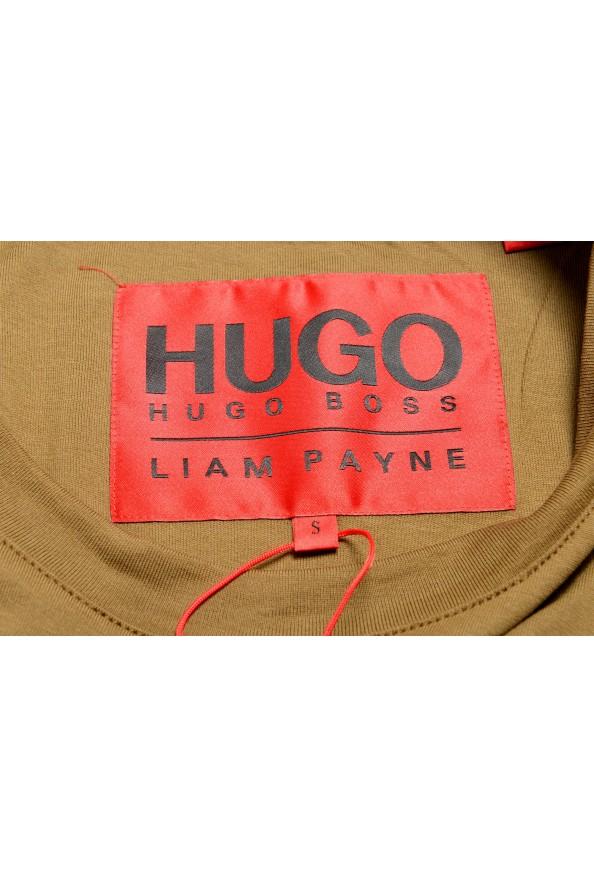 "Hugo Boss Men's ""Dicagolino_LP1"" Olive Logo Print Crewneck T-Shirt: Picture 5"