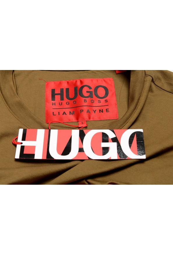 "Hugo Boss Men's ""Dicagolino_LP1"" Olive Logo Print Crewneck T-Shirt: Picture 7"