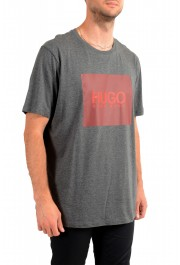 "Hugo Boss Men's ""Dolive201"" Gray Logo Print Crewneck T-Shirt: Picture 2"