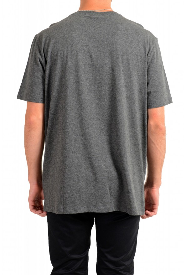 "Hugo Boss Men's ""Dolive201"" Gray Logo Print Crewneck T-Shirt: Picture 3"