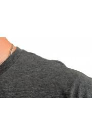 "Hugo Boss Men's ""Dolive201"" Gray Logo Print Crewneck T-Shirt: Picture 4"