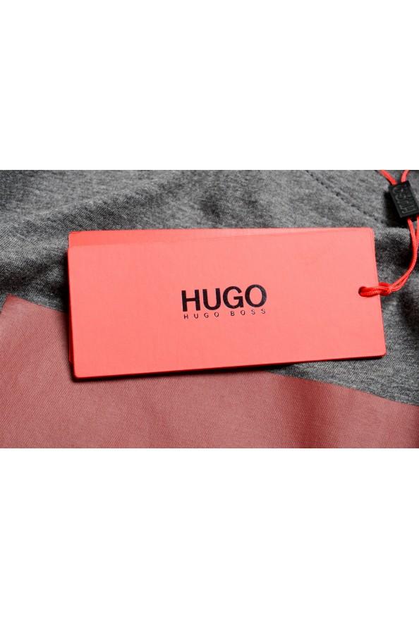 "Hugo Boss Men's ""Dolive201"" Gray Logo Print Crewneck T-Shirt: Picture 6"