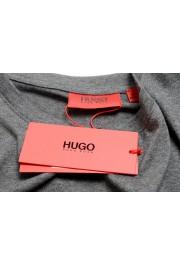 "Hugo Boss Men's ""Dolive201"" Gray Logo Print Crewneck T-Shirt: Picture 7"