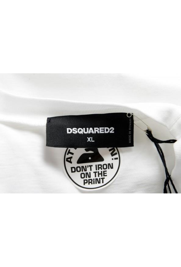 Dsquared2 Men's White Logo Print Crewneck T-Shirt : Picture 5