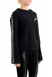 Just Cavalli Women's Black Wool Mohair Crewneck Sweater: Picture 2