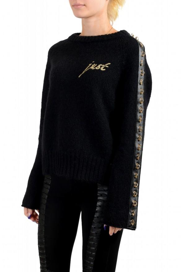 Just Cavalli Women's Black Wool Mohair Crewneck Sweater: Picture 3