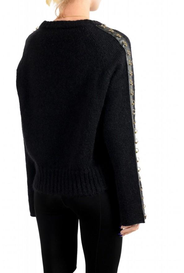 Just Cavalli Women's Black Wool Mohair Crewneck Sweater: Picture 4