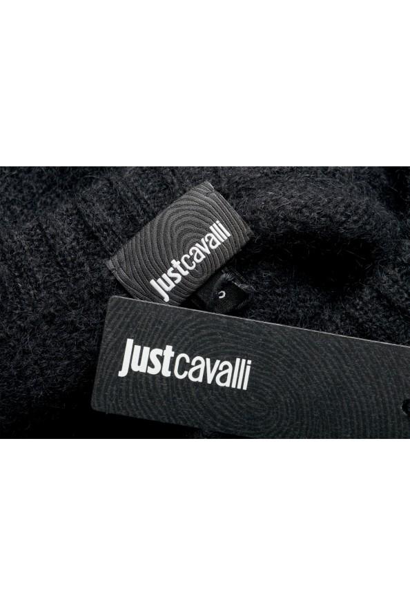 Just Cavalli Women's Black Wool Mohair Crewneck Sweater: Picture 7