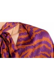 Just Cavalli Women's Multi-Color V-Neck Blouse Top: Picture 4