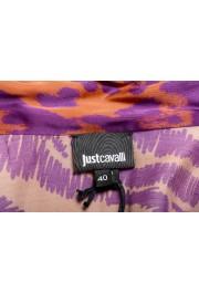 Just Cavalli Women's Multi-Color V-Neck Blouse Top: Picture 5