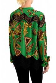 Just Cavalli Women's Multi-Color Lace Trimmed Blouse Top: Picture 3