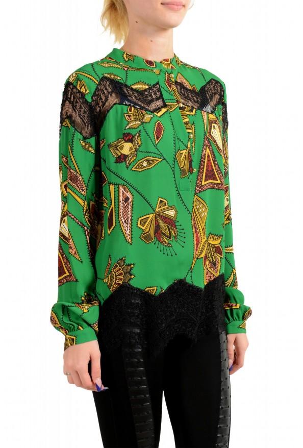 Just Cavalli Women's Multi-Color Lace Trimmed Blouse Top : Picture 2
