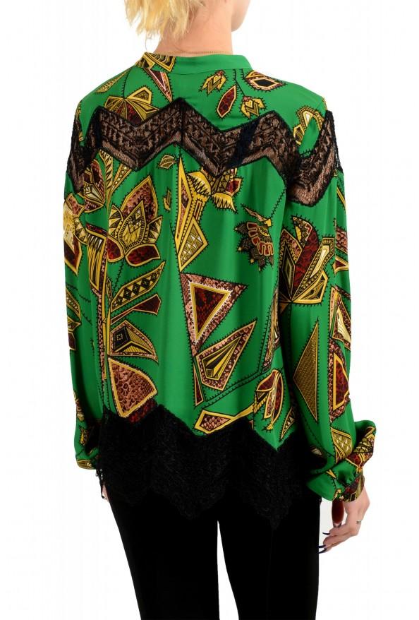Just Cavalli Women's Multi-Color Lace Trimmed Blouse Top : Picture 3