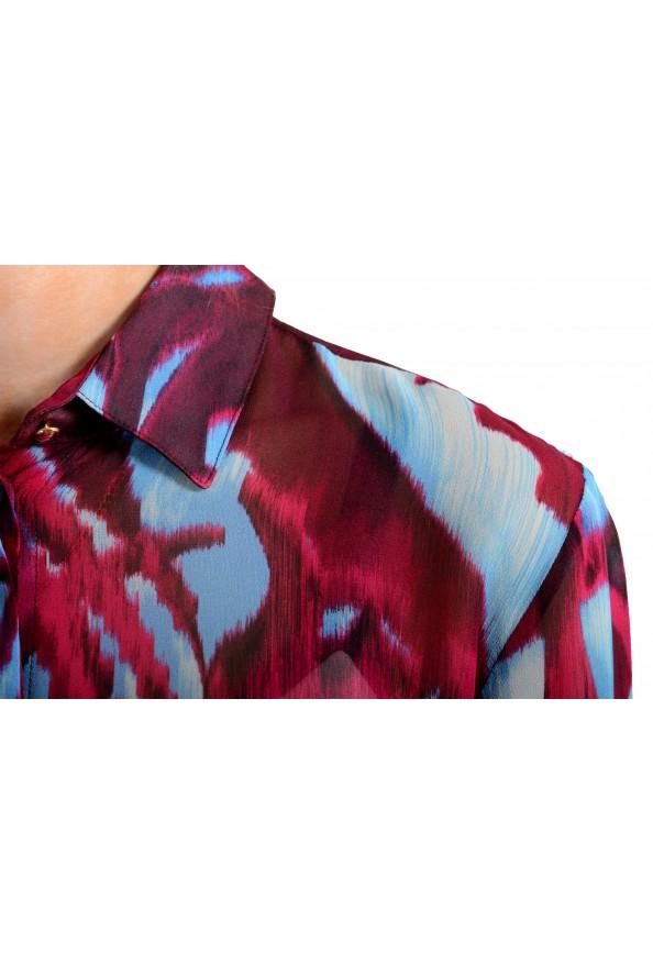 Just Cavalli Women's Multi-Color Button Down Shirt Blouse Top: Picture 4