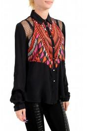 Just Cavalli Women's Multi-Color Button Down Shirt Blouse Top: Picture 2