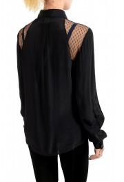 Just Cavalli Women's Multi-Color Button Down Shirt Blouse Top: Picture 3