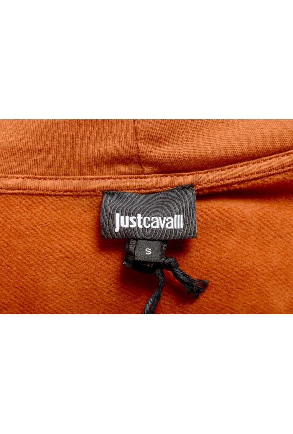 Just Cavalli Women's Brown Logo Hooded Full Zip Ruffled Sweatshirt : Picture 5