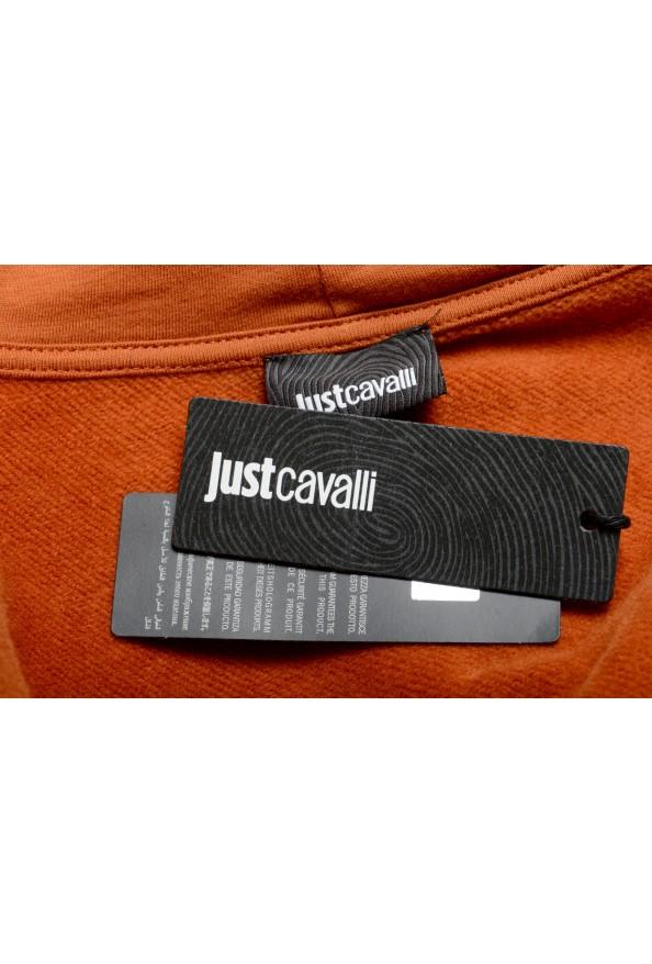 Just Cavalli Women's Brown Logo Hooded Full Zip Ruffled Sweatshirt : Picture 6
