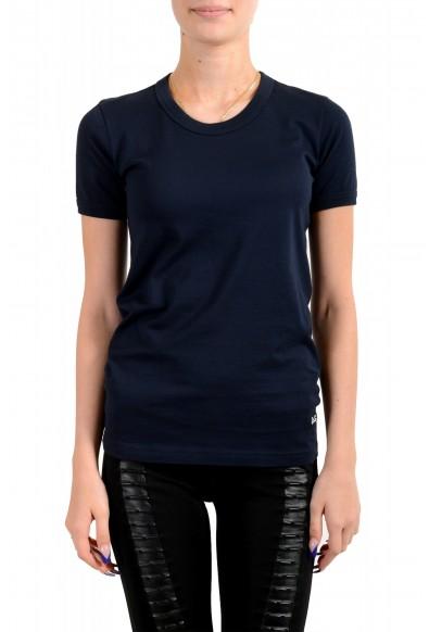 Dolce & Gabbana D&G Women's Basic Blue Crewneck T-Shirt
