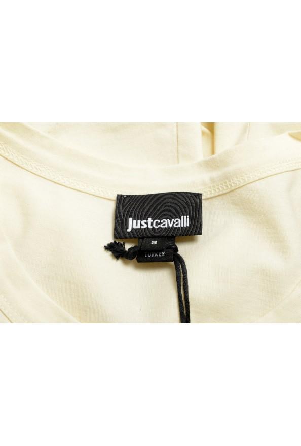 Just Cavalli Women's Beige Embroidered Short Sleeve Crewneck T-Shirt : Picture 5
