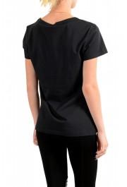Just Cavalli Women's Black Logo Print Short Sleeve Crewneck T-Shirt: Picture 3