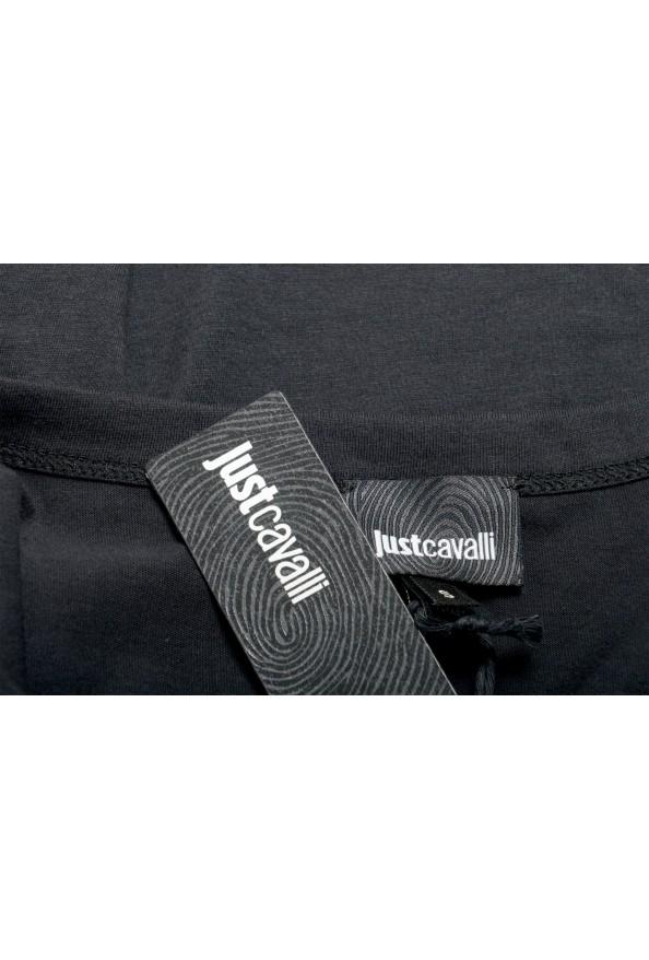 Just Cavalli Women's Black Logo Print Short Sleeve Crewneck T-Shirt: Picture 6