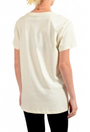 Just Cavalli Women's Beige Logo Print Short Sleeve Crewneck T-Shirt: Picture 3