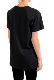 Just Cavalli Women's Black Embellished Short Sleeve Crewneck T-Shirt : Picture 3
