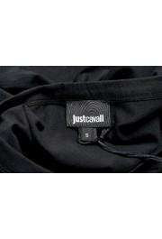 Just Cavalli Women's Black Embellished Short Sleeve Crewneck T-Shirt : Picture 5