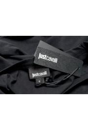Just Cavalli Women's Black Embellished Short Sleeve Crewneck T-Shirt : Picture 6