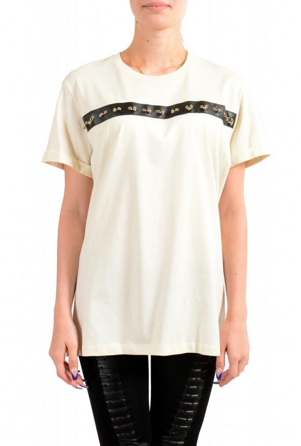 Just Cavalli Women's Beige Short Sleeve Crewneck T-Shirt