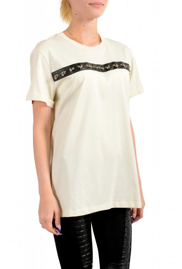 Just Cavalli Women's Beige Short Sleeve Crewneck T-Shirt : Picture 2