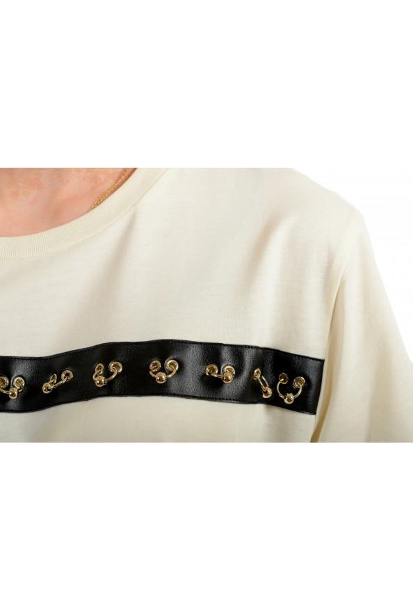 Just Cavalli Women's Beige Short Sleeve Crewneck T-Shirt : Picture 4