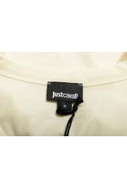 Just Cavalli Women's Beige Embellished Short Sleeve Crewneck T-Shirt : Picture 5