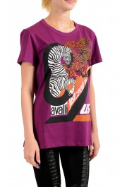 Just Cavalli Women's Multi-Color Short Sleeve Crewneck T-Shirt : Picture 2