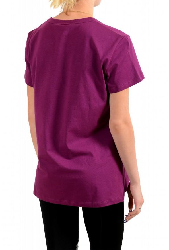 Just Cavalli Women's Multi-Color Short Sleeve Crewneck T-Shirt : Picture 3