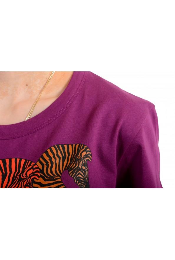 Just Cavalli Women's Multi-Color Short Sleeve Crewneck T-Shirt : Picture 4