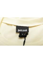 Just Cavalli Women's Beige Logo Print Short Sleeve Crewneck T-Shirt : Picture 5