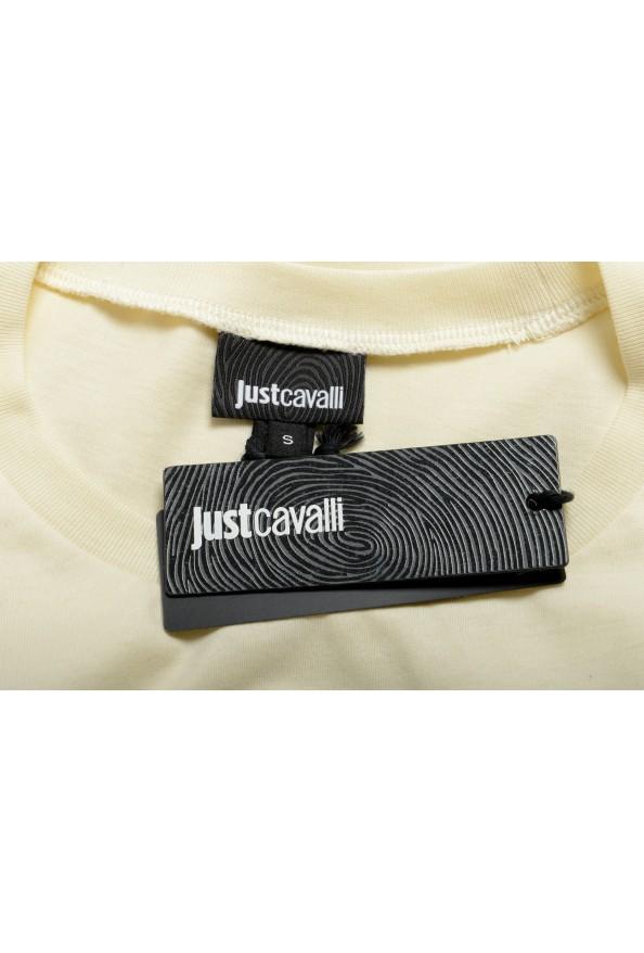 Just Cavalli Women's Beige Logo Print Short Sleeve Crewneck T-Shirt : Picture 6