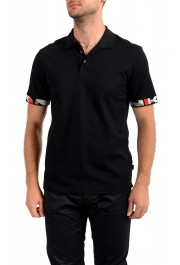 "Hugo Boss Men's ""Parlay 106"" Black Short Sleeve Polo Shirt"
