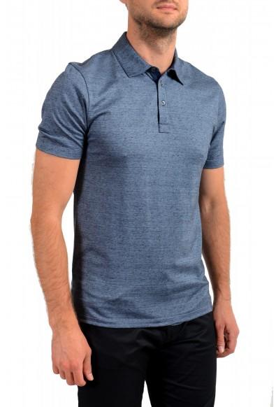 "Hugo Boss Men's ""T-Pryde 48"" Blue Linen Short Sleeve Polo Shirt : Picture 2"
