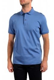 "Hugo Boss Men's ""T-Perry 14"" Blue Short Sleeve Polo Shirt"