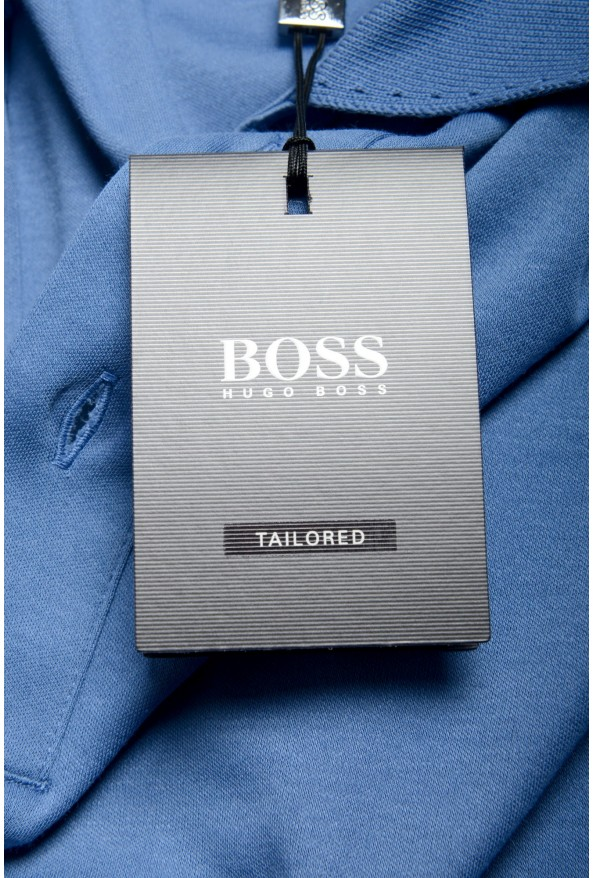 """Hugo Boss Men's """"T-Perry 14"""" Blue Short Sleeve Polo Shirt: Picture 6"""