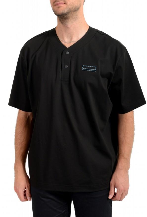 """Hugo Boss Men's """"Pasea"""" Oversized Fit Black Short Sleeve T-Shirt"""