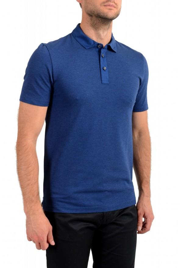 """Hugo Boss Men's """"Plummer 06"""" Slim Fit Blue Short Sleeve Polo Shirt : Picture 2"""