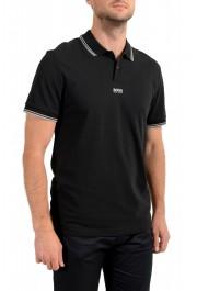 """Hugo Boss Men's """"PChup 1"""" Black Short Sleeve Polo Shirt: Picture 2"""