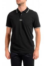 """Hugo Boss Men's """"PChup 1"""" Black Short Sleeve Polo Shirt"""